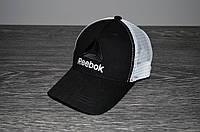 Черная Кепка Тракер в стиле Rebook