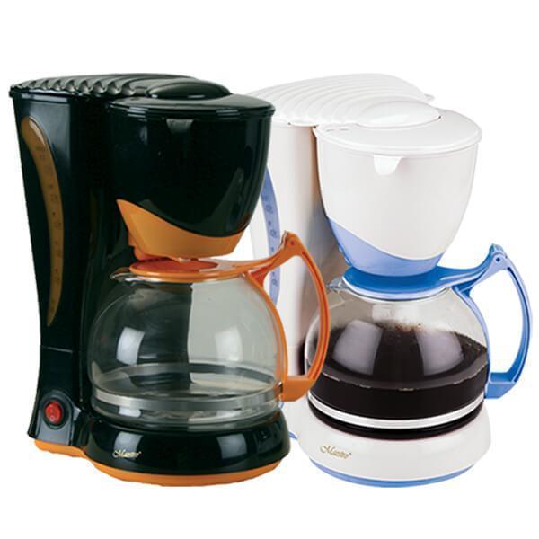Кофеварка капельная MAESTRO MR-400 белая | кофемашина Маэстро, Маестро (800 Вт, Anti-drip, на 10-12 чашек)