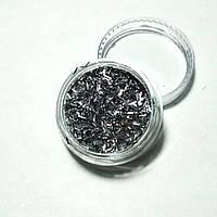 Стружка для декора ногтей серая