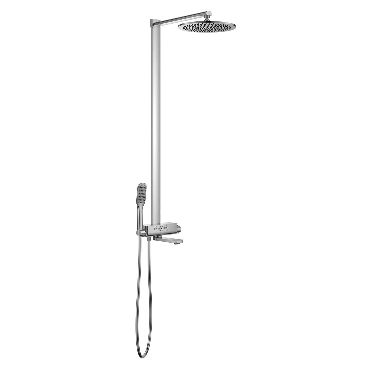 SMART CLICK система душевая для ванны с термостатом, хром