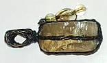 Кулон с желтым топазом, фото 2