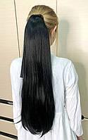 Шиньон объемный West №2 черно-коричневый