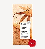 Белый шоколад с карамелизированными семенами конопли органический, 80 г, TM VIVANi