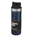 Термокружка металлическая с поилкой Stanley Classic Trigger Action (0.47л), темно-синяя, фото 3