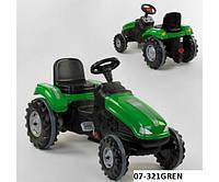 Веломобіль педальний Pilsan трактор 3 кольору., фото 1