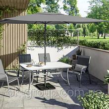 Зонт садовий пляжний прямокутний 2х3 метра сірий