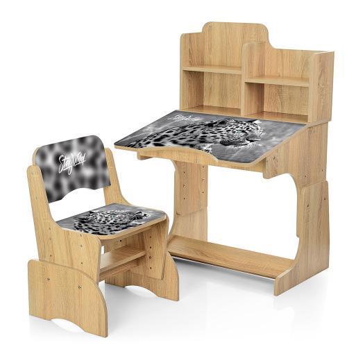 Детская парта со стульчиком Bambi Леопард (B 2071-93-4) регулируется