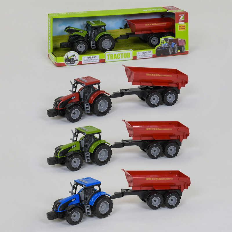 Дитячий іграшковий Трактор з причепом (550-59 J) інерційний