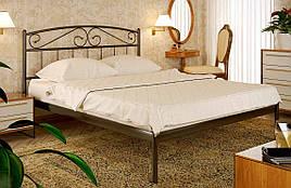 Кровать двуспальная металлическая Верона XL с высоким изголовьем, фабрика Метакам