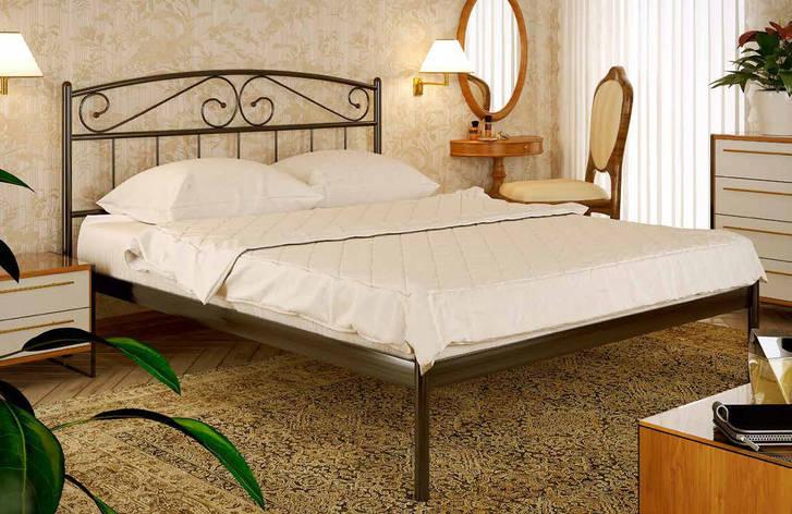 Кровать двуспальная металлическая Верона XL с высоким изголовьем, фабрика Метакам, фото 2