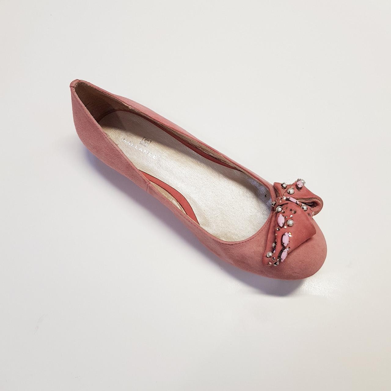Балетки женские весна-осень из натуральной замши на плоской подошве розовые