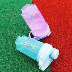 Бутылка спортивная пластиковая матовая шейкер (без надписи)
