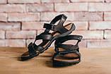 Мужские сандали кожаные летние черные-коричневые, фото 6