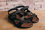Мужские сандали кожаные летние черные-коричневые, фото 2
