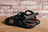 Мужские сандали кожаные летние черные-коричневые, фото 7