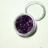 Стружка для декора ногтей фиолетовая