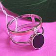 Серебряное брендовое кольцо с ониксои и золотом, фото 4