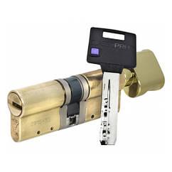 Цилиндр Mul-T-Lock Classic PRO ключ/поворотник латунь 80 мм