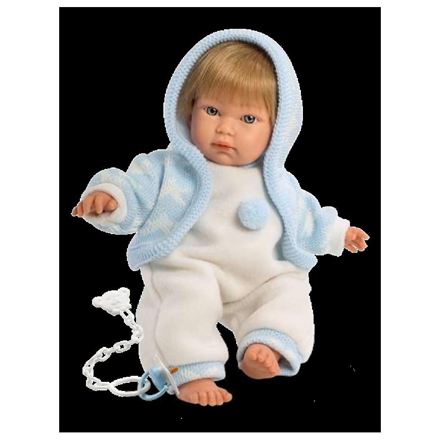 Інтерактивний пупс LLorens Cuqui 30см, що плаче (ніжний хлопчик) 879