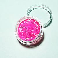 Стружка для декора ногтей розовая