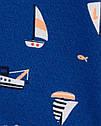 """Песочник картерс для мальчика """"Кораблики"""" синий Carter's, фото 2"""