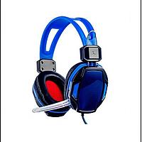Игровые проводные наушники с микрофоном SY833MV (Синие)