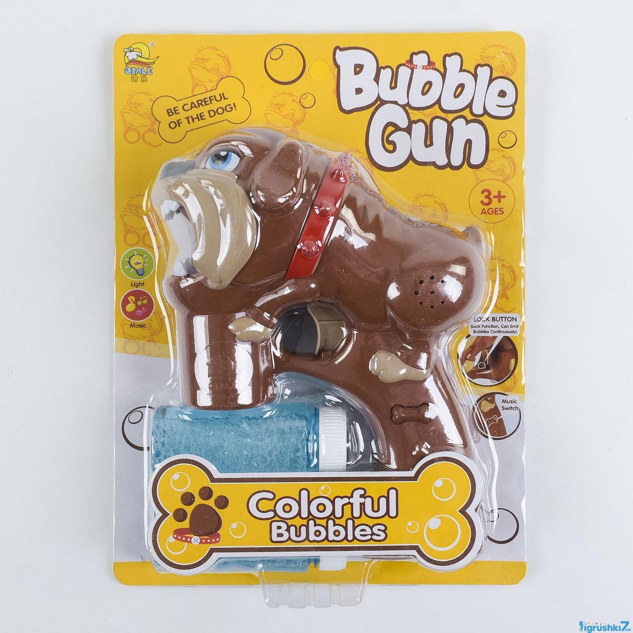Игрушечный пистолет с мыльными пузырями (603) музыкальный