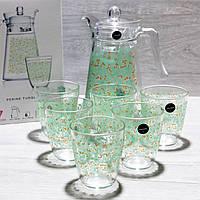 Кувшин со стаканами Luminarc Neo Perine Turquoise (1.3l + 6*310ml)
