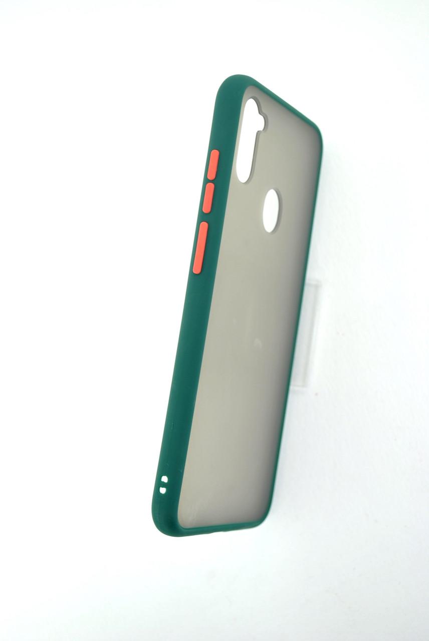 Чехол iPhone 11ProMax Silicon Gingle Matte dark green/orange