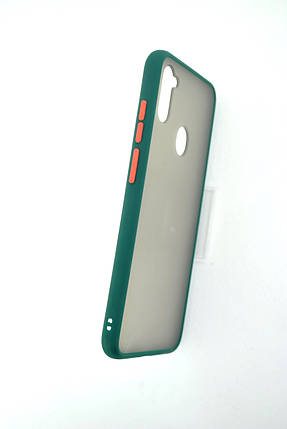 Чехол iPhone 11ProMax Silicon Gingle Matte dark green/orange, фото 2
