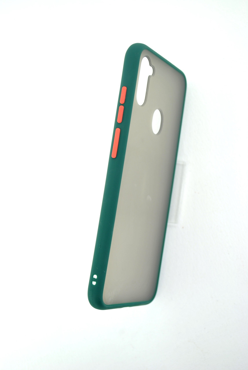 Чехол iPhone 7 /8 Silicon Gingle Matte dark green/orange