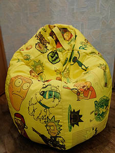 Кресло мешок Рик и Морти - 110 x 100 cm