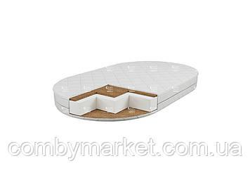Детский овальный матрас 71*120 см белый CD Oval