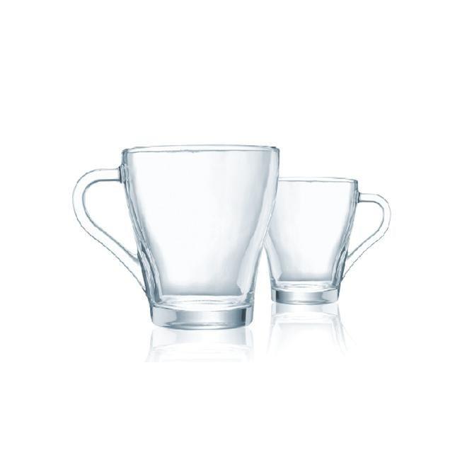 Набір скляних кружок для капучино Luminarc Mahak 280 мл 6 шт (N3076)