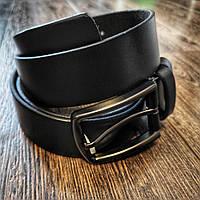 Классический брючный мужской ремень ST Leather 35мм (чорний)