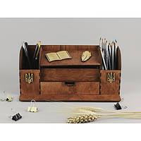 Деревянный настольный органайзер стол