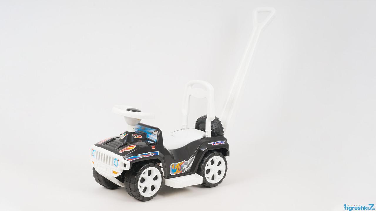 """Каталка машинка с ручкой Хамер (1) 856 - цвет чёрный """"ORION """"(игрушки7)"""