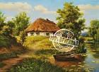 """Раскраска по номерам """"Домик возле пруда"""" (VP356) Турбо 40х50 см, фото 2"""