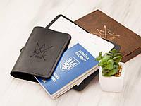 Обложка на загранпаспорт  «Буквы» с гравировкой