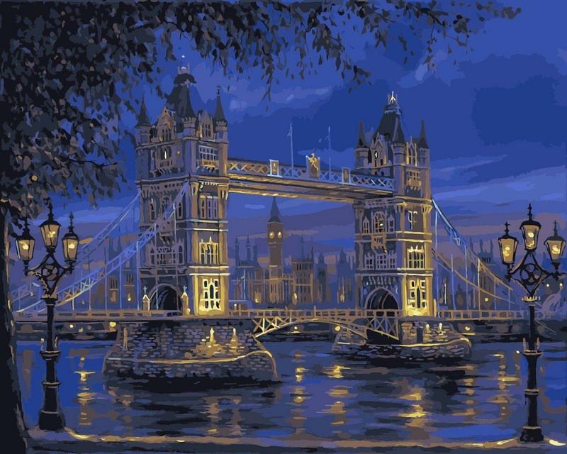 "Раскраска по номерам ""Тауэрский мост"" худ. Финале Роберт (VPS049) Babylon 50х65 см"