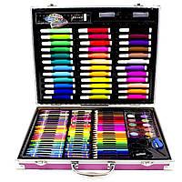 Большой набор детский для рисования и творчества Painting Set Pink 150 предметов 3965-11495, КОД: 1559717