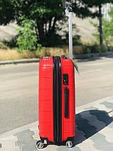 Пластиковый чемодан из полипропилена средний красного цвета  Франция, фото 2