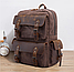 Рюкзак дорожный текстильный Vintage 20055 Коричневый, фото 5