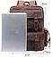 Рюкзак дорожный текстильный Vintage 20055 Коричневый, фото 6