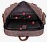 Рюкзак дорожный текстильный Vintage 20055 Коричневый, фото 7