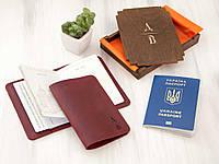 Обложка для паспорта из кожи именная