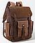 Рюкзак дорожный текстильный Vintage 20057 Коричневый, фото 2
