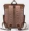 Рюкзак дорожный текстильный Vintage 20057 Коричневый, фото 4