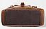 Рюкзак дорожный текстильный Vintage 20057 Коричневый, фото 5