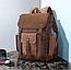 Рюкзак дорожный текстильный Vintage 20057 Коричневый, фото 6